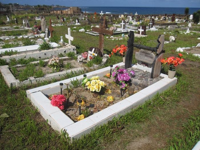 Rapa Nui Cemetery  Easter Island, Rapa Nui, Hanga Roa, Vanuatu, Isla de Pascua, Chile, South America
