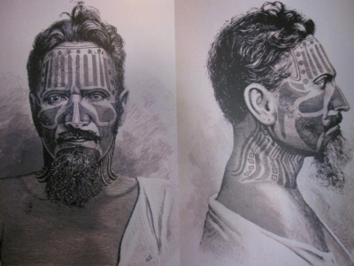 Traditional Face Tattoos Easter Island Easter Island Warrior, Rapa Nui, Hanga Roa, Vanuatu, Isla de Pascua, Chile, South America