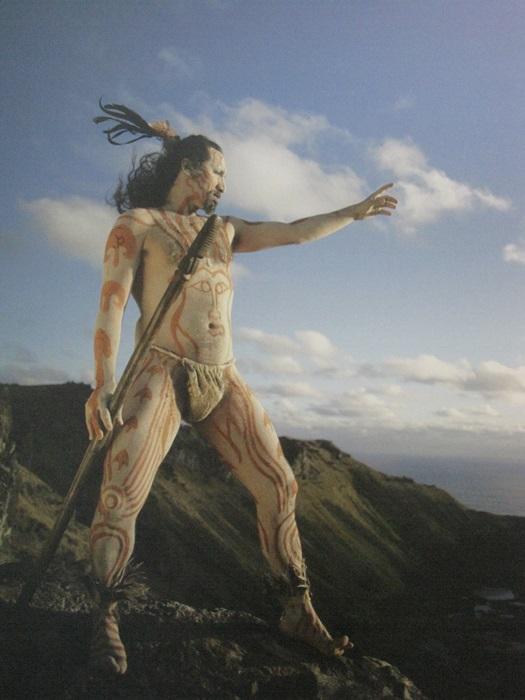 Beautiful Island Warrior Easter Island, Rapa Nui, Hanga Roa, Vanuatu, Isla de Pascua, Chile, South America