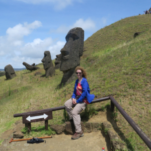 Rano Raraku Moai Rock quarry, Easter Island, Isla de Pascua, Hanga Roa, Chile, South America