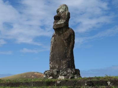 Ahu Huri a Urenga - Known as the Astronomer - Easter Island, Rapa Nui, Hanga Roa, Isla de Pascua, Chile, South America