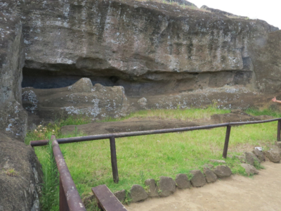 Rano Raraku Quarry for Moai Easter Island, Rapa Nui, Hanga Roa, Isla de Pascua, Chile, South America