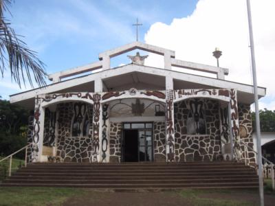 Christmas at the Church of Rapa Nui, Easter Island, Rapa Nui, Hanga Roa, Isla de Pascua, Chile, South America