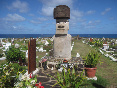 Hanga Roa Cemetery Tahai Complex Easter Island, Rapa Nui, Hanga Roa, Isla de Pascua, Chile, South America