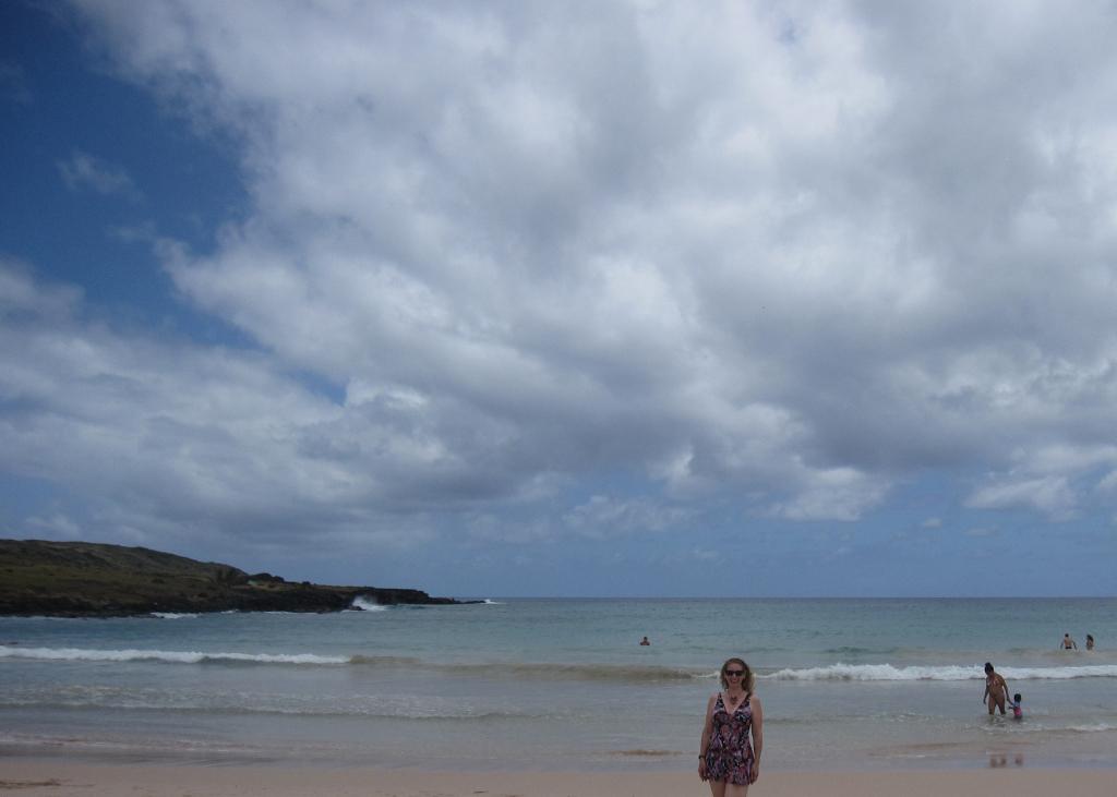 Anakena Beach Easter Island, Rapa Nui, Hanga Roa, Isla de Pascua, Chile, South America