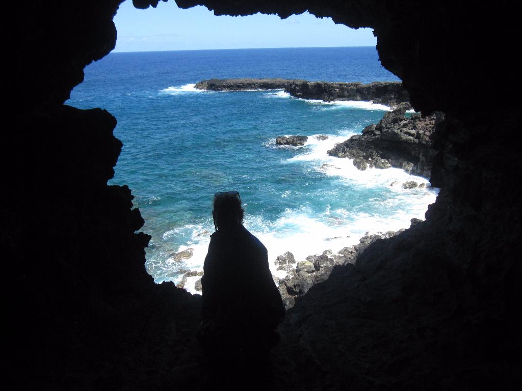 Ana Kakenga Cave - Cave of Two Windows Easter Island, Rapa Nui, Hanga Roa, Vanuatu, Isla de Pascua, Chile, South America